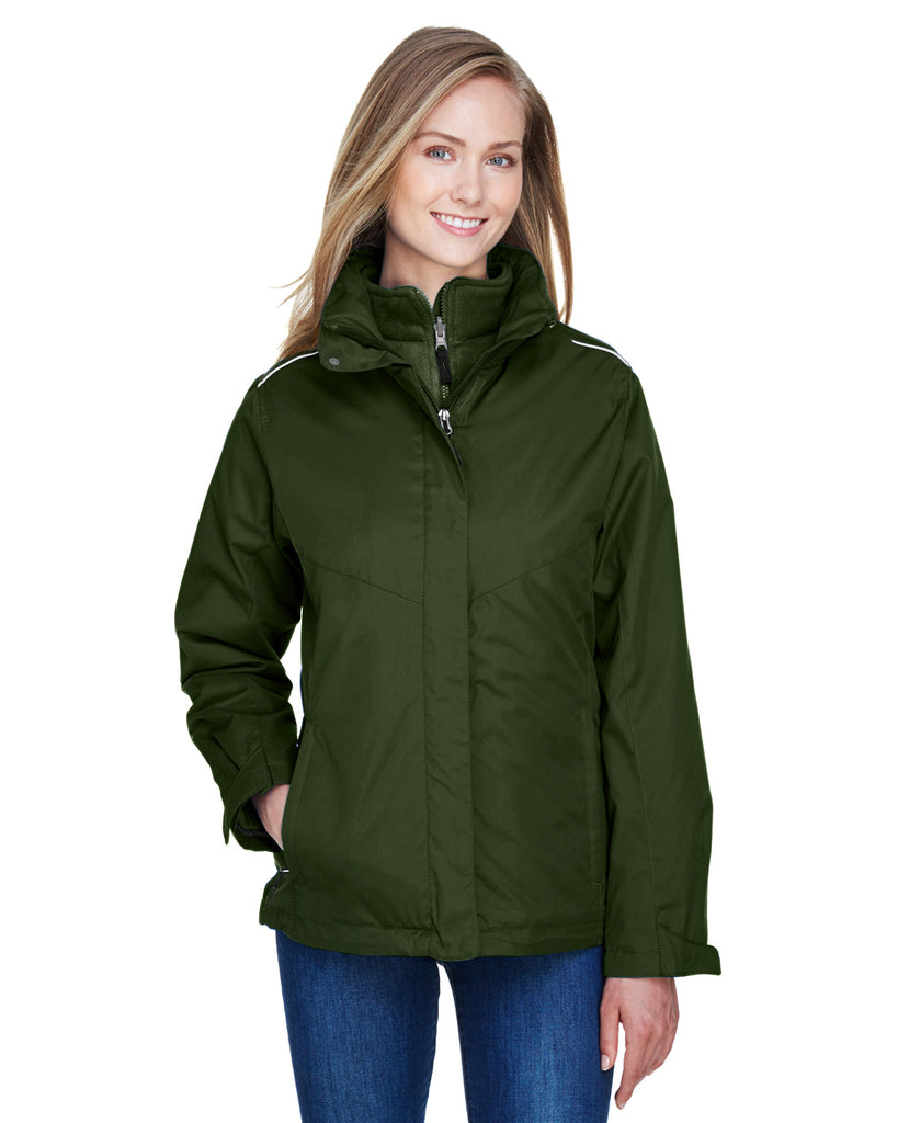 Ash City - Core 365-78205-Ladies' Region 3-in-1 Jacket with Fleece Liner - TRUE ROYAL - XS