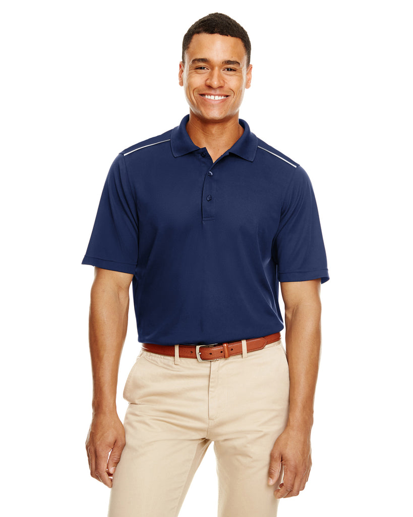 Ash City - Core 365-88181R-Men's Radiant Performance Piqué Polo with Reflective Piping - TRUE ROYAL - S