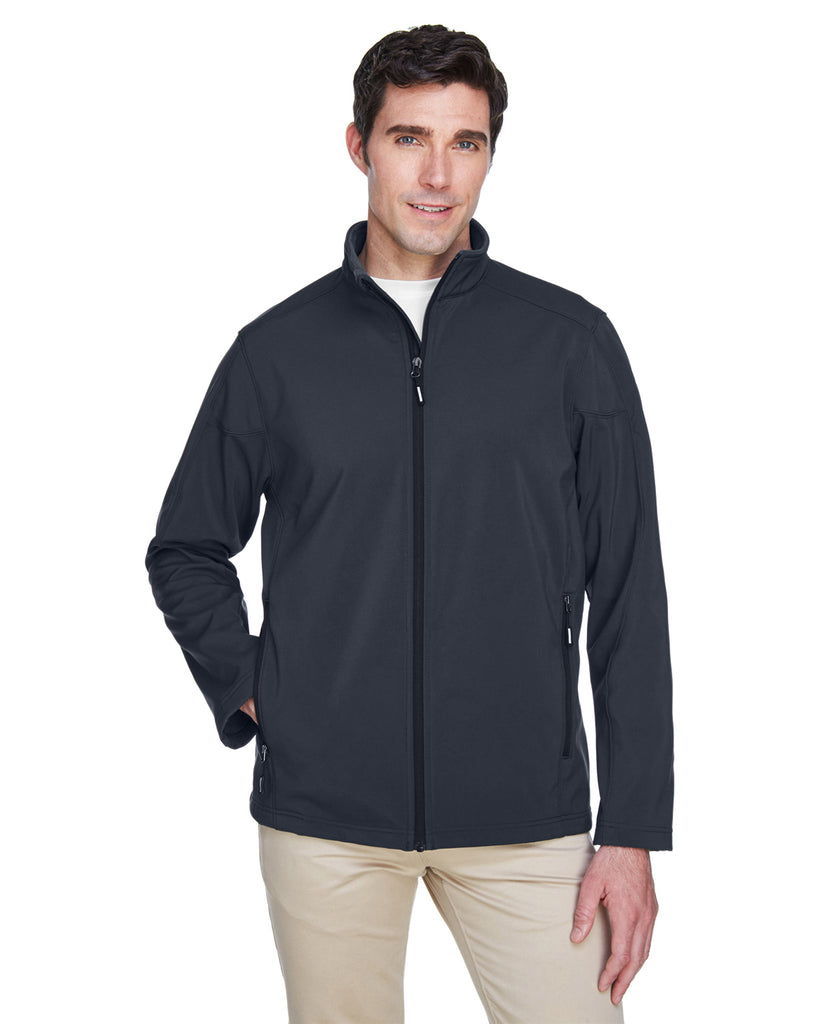 Ash City - Core 365-88184-Men's Cruise Two-Layer Fleece Bonded Soft Shell Jacket - CARBON - S