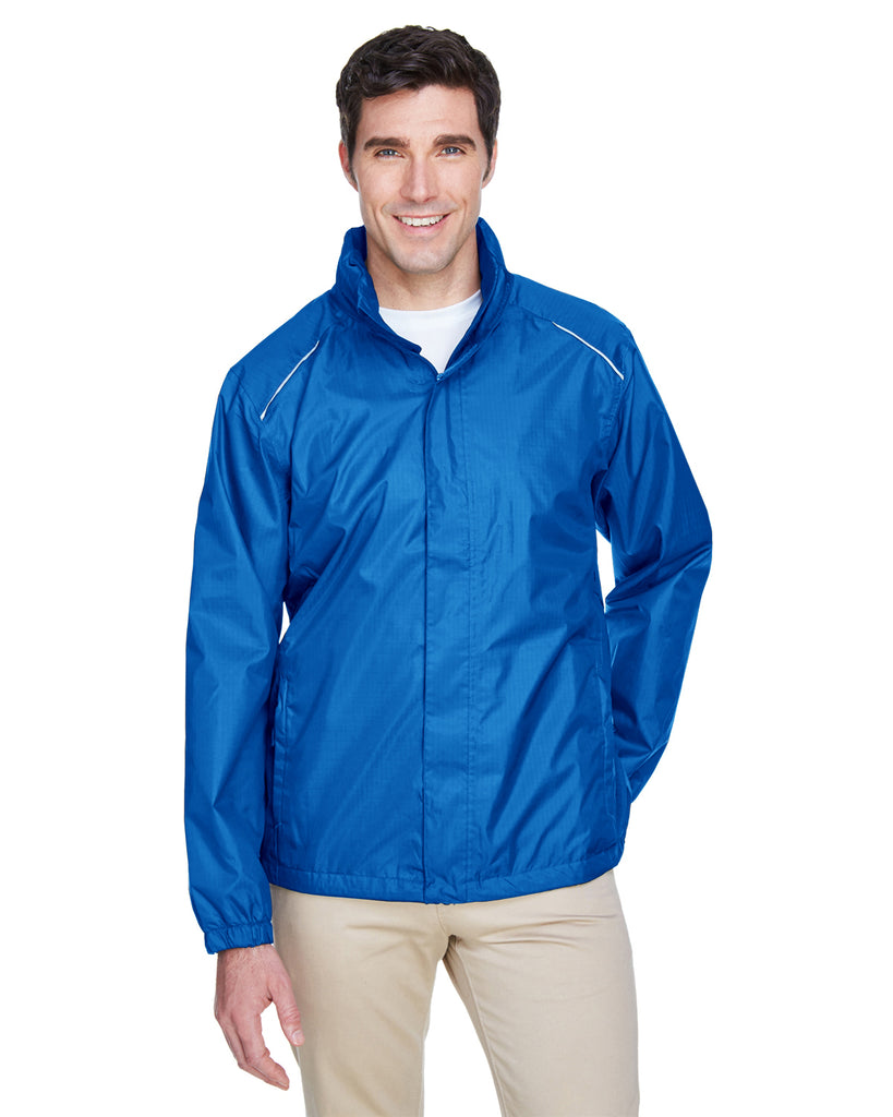 Ash City - Core 365-88185-Men's Climate Seam-Sealed Lightweight Variegated Ripstop Jacket - TRUE ROYAL - S