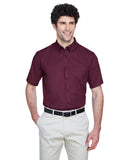 Ash City - Core 365-88194-Men's Optimum Short-Sleeve Twill Shirt - CAMPUS PURPLE - S