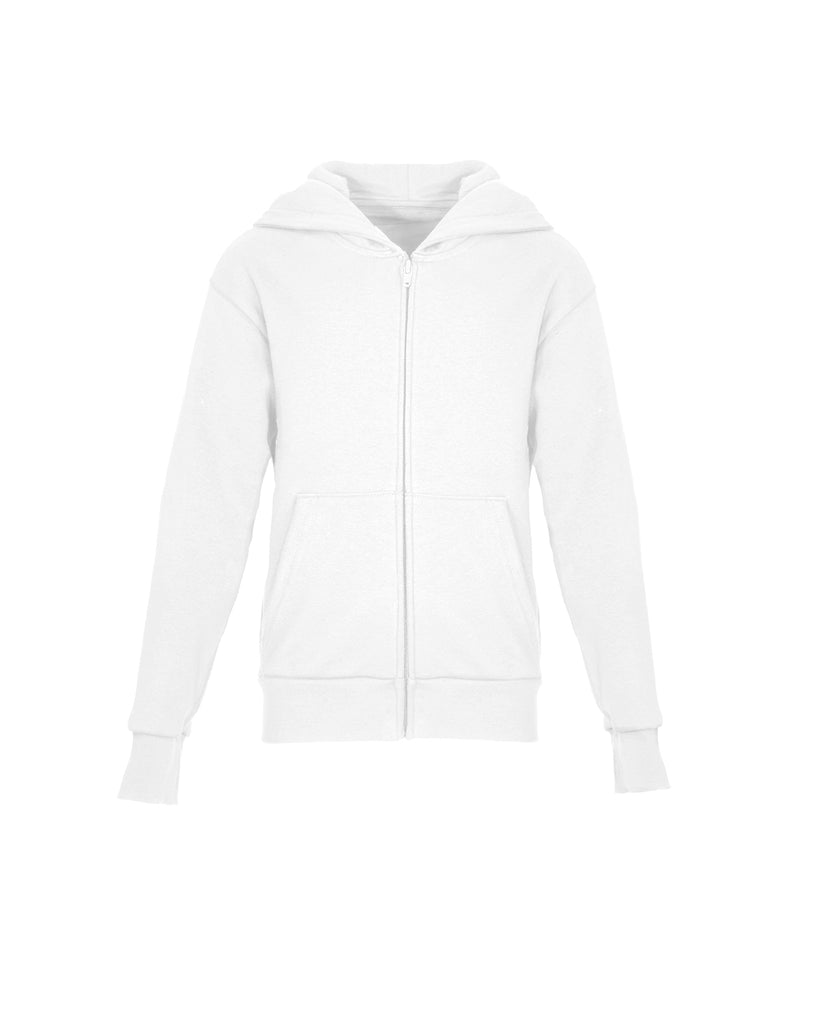Next Level-9103-Youth Zip Hoody - WHITE - XS
