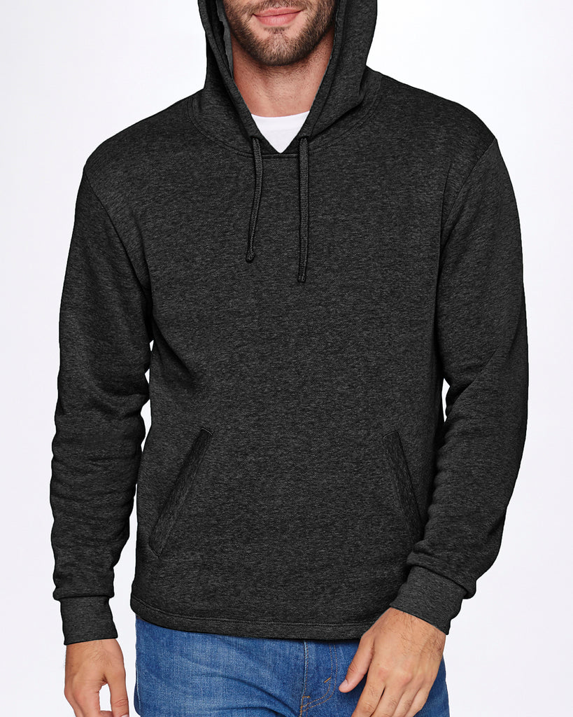 Next Level-9300-Adult PCH Pullover Hoody - HEATHER BLACK - XS