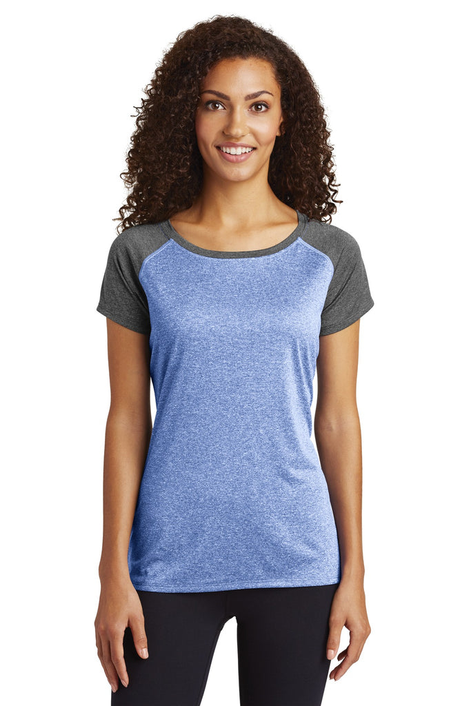 Sport-Tek  Ladies Heather-On-Heather Contender  Scoop Neck Tee. LST362