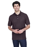 Devon & Jones-D100-Men's Pima Piqué Short-Sleeve Polo - DEEP PURPLE - XS