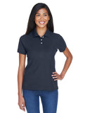 Devon & Jones-D112W-Ladies' Pima Piqué Short-Sleeve Polo - WHITE - S