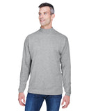Devon & Jones-D420-Adult Sueded Cotton Jersey Mock Turtleneck - WHITE - XS