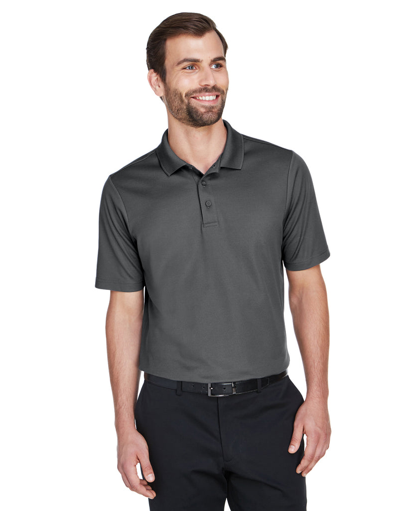 Devon & Jones-DG20-CrownLux Performance™ Men's Plaited Polo - GRAPHITE - XS