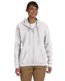Gildan-G186FL-Ladies' Heavy Blend™ Ladies' 8 oz., 50/50 Full-Zip Hood - WHITE - S