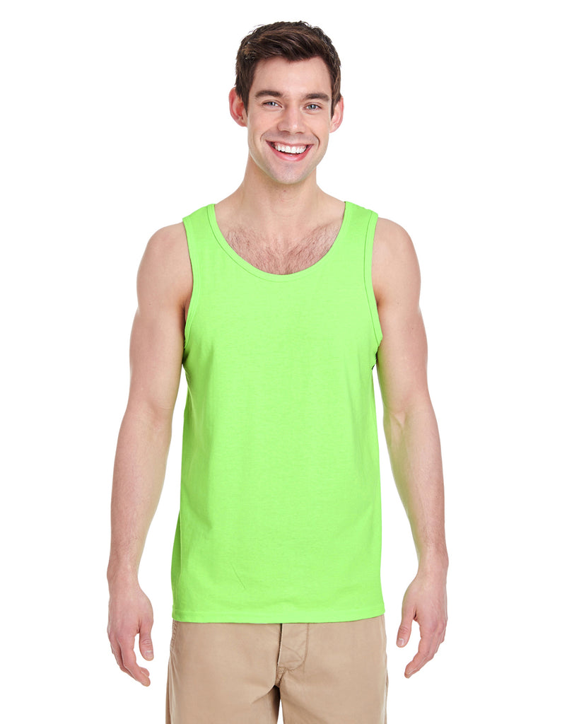 Gildan-G520-Adult  Heavy Cotton™ 5.3 oz. Tank - NEON GREEN - M