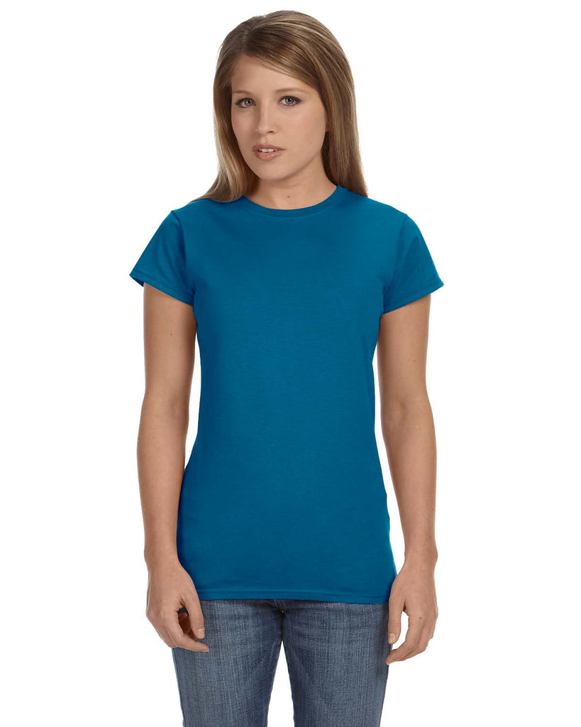 Gildan-G640L-Ladies' Softstyle® 4.5 oz. Fitted T-Shirt - ANTQUE SAPPHIRE - S
