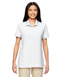 Gildan-G728L-Ladies' 6 oz. Double Piqué Polo - WHITE - S