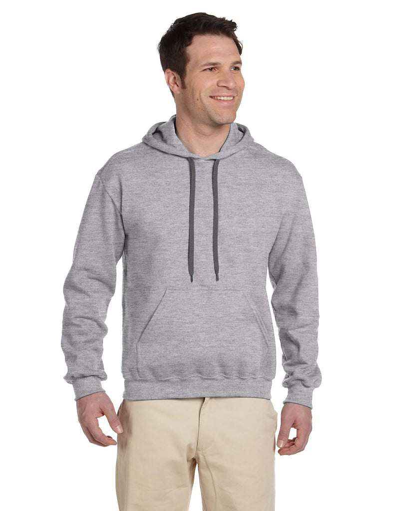 Gildan-G925-Adult Premium Cotton® Adult 9 oz. Ringspun Hooded Sweatshirt - WHITE - S