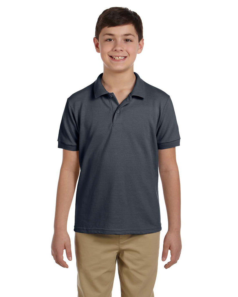 Gildan-G948B-Youth 6.8 oz. Piqué Polo - WHITE - XS