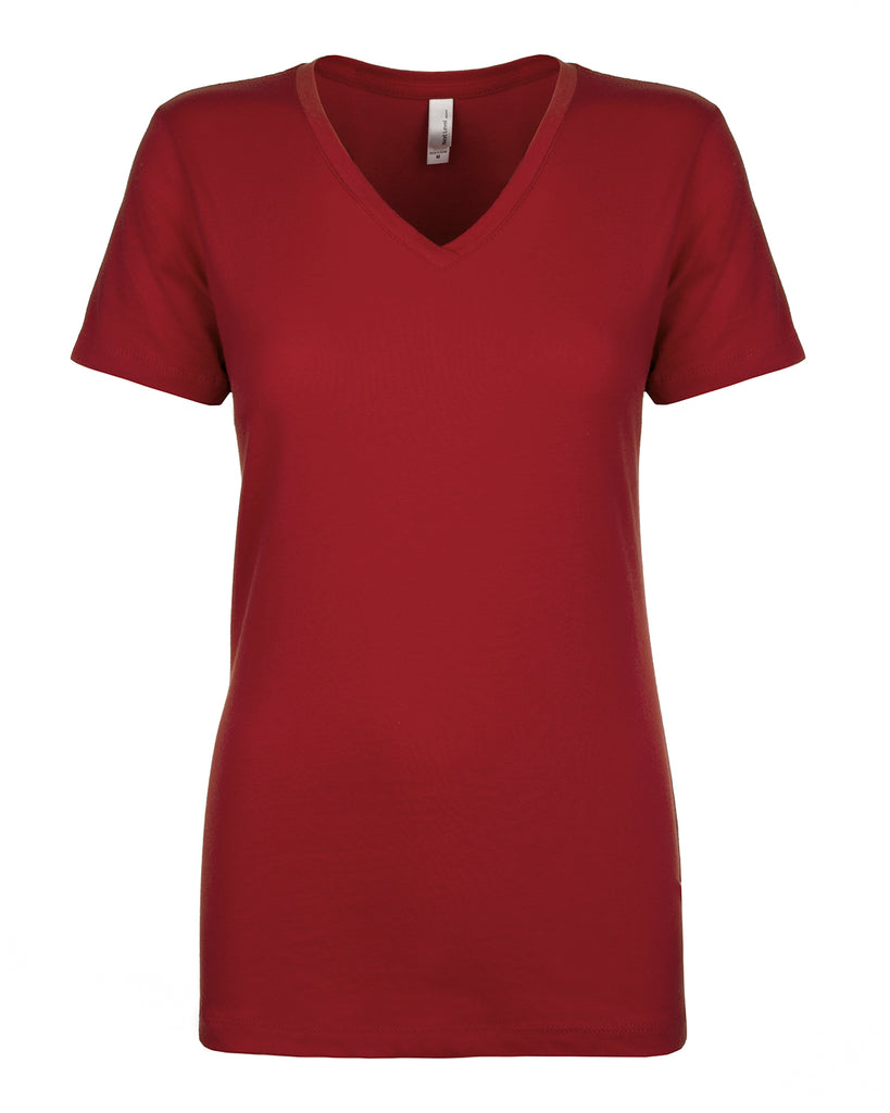 Next Level-N1540-Ladies' Ideal V - RASPBERRY - XS