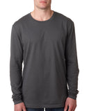 Next Level-N3601-Men's Cotton Long-Sleeve Crew - WHITE - S