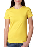 Next Level-N3900-Ladies' Boyfriend T-Shirt - VIBRANT YELLOW - XS