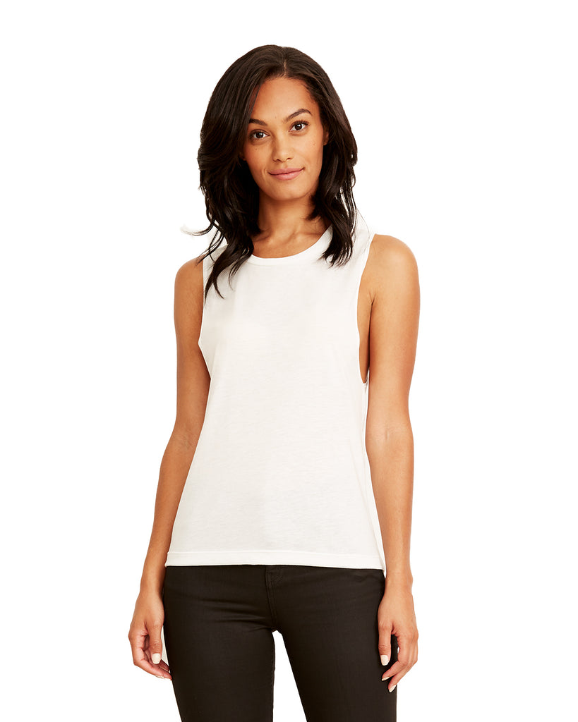 Next Level-N5013-Ladies' Festival Muscle Tank - WHITE - XS