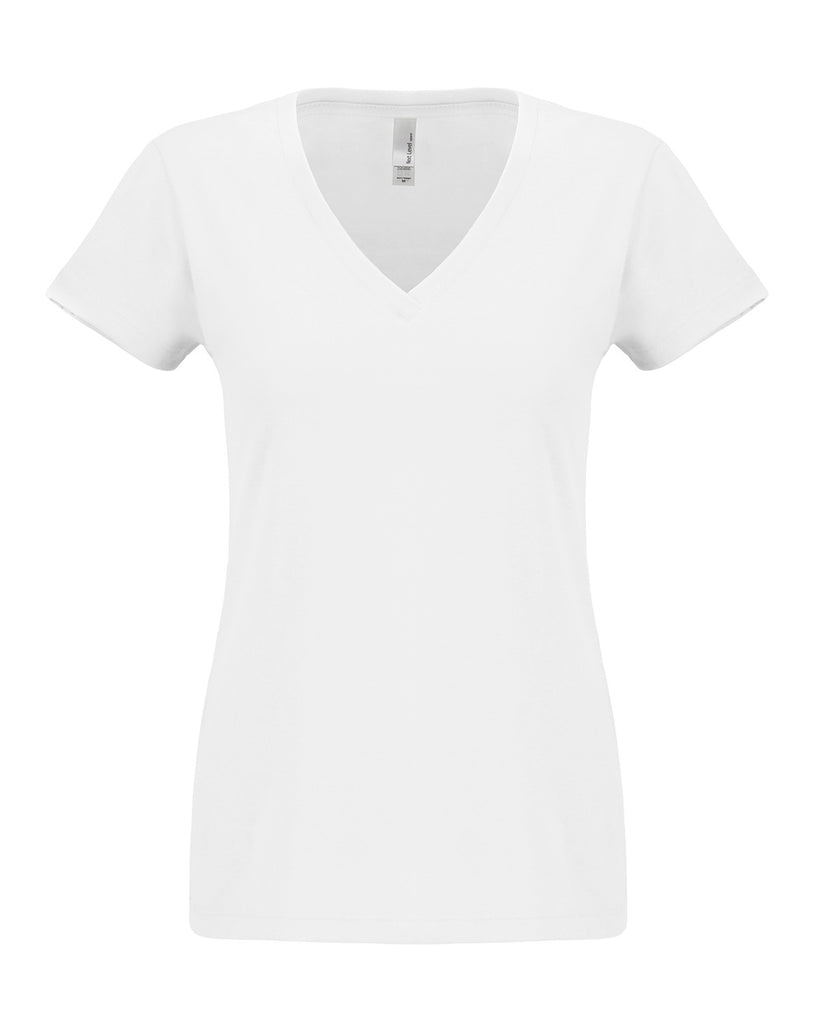 Next Level-N6480-Ladies' Sueded V - WHITE - XS