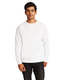 Next Level-N9000-Unisex French Terry Raglan Crew - WHITE - XS