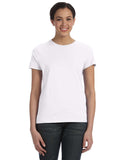 Hanes-SL04-Ladies' 4.5 oz., 100% Ringspun Cotton nano-T® T-Shirt - WHITE - S