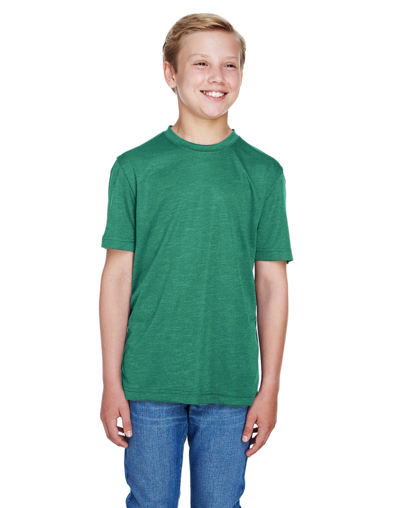 Team 365-TT11HY-Youth Sonic Heather Performance T-Shirt - SP FOREST HTHR - S