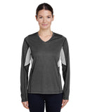 Team 365-TT14W-Ladies' Excel Performance Warm-Up - DK GREY HEATHER - XS