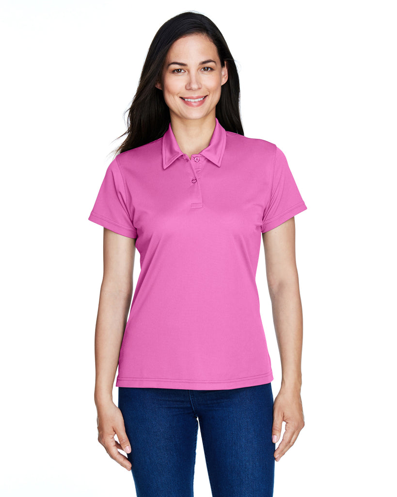 Team 365-TT21W-Ladies' Command Snag Protection Polo - SAFETY YELLOW - XS