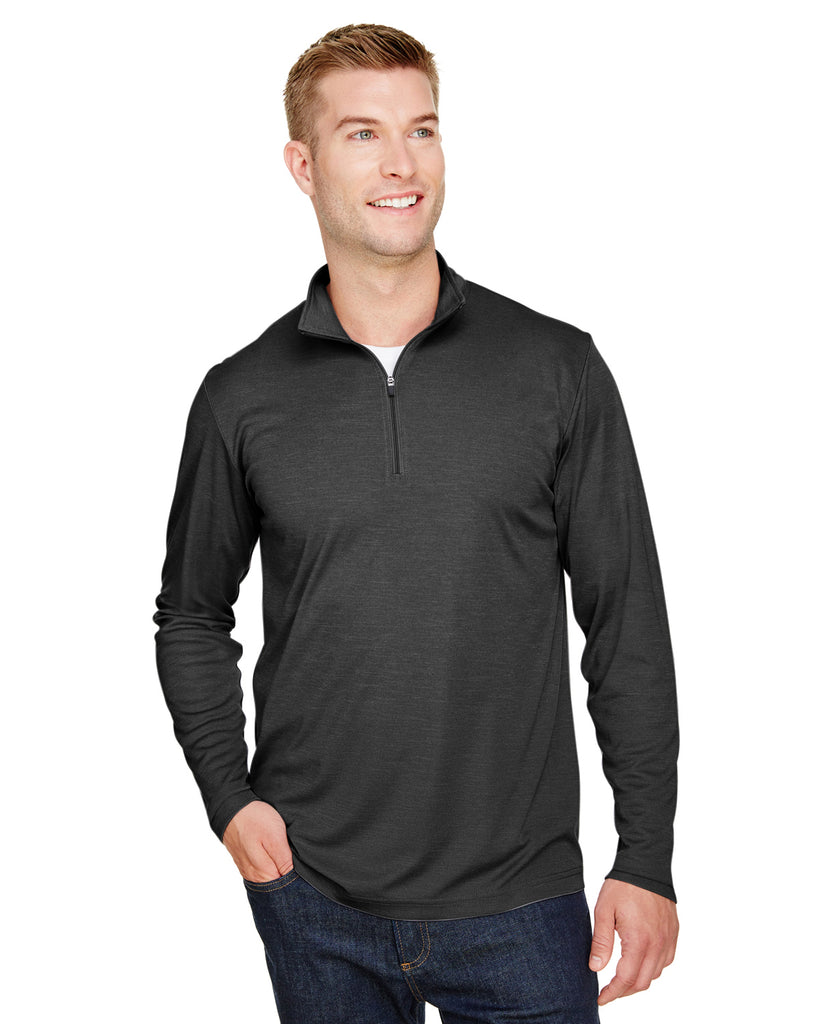Team 365-TT31H-Men's Zone Sonic Heather Performance Quarter-Zip - SP FOREST HTHR - XS