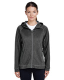 Team 365-TT38W-Ladies' Excel Mélange Performance Fleece Jacket - D GRY HTH/ SP GR - XS