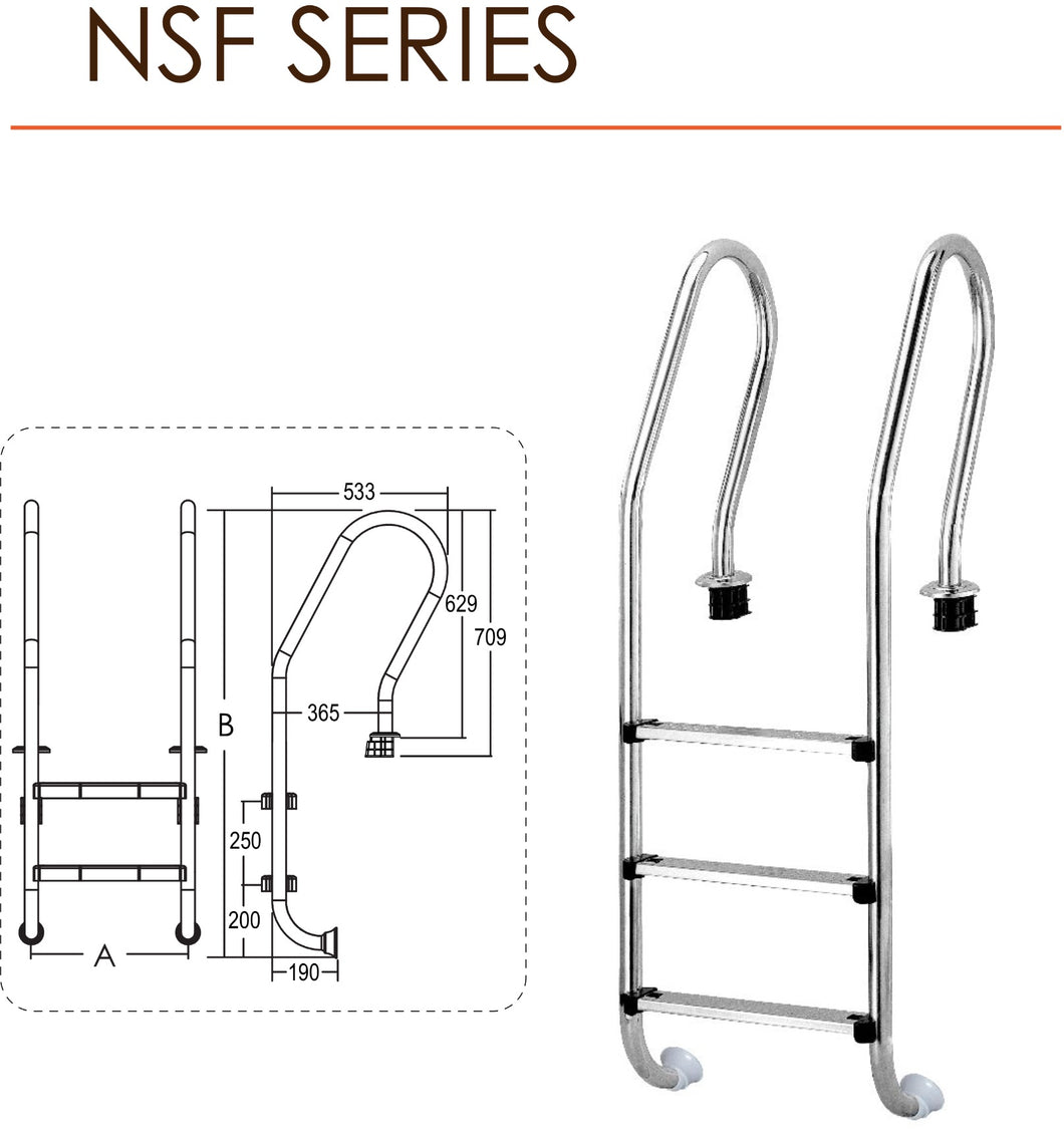 Emaux NSF Series Ladder - poolandspa.ph