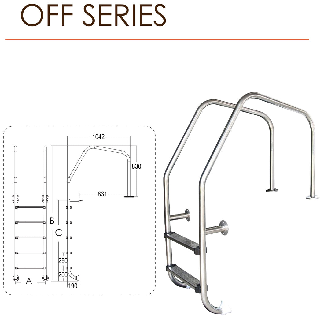 Emaux OFF Series Ladder - poolandspa.ph