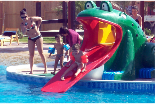 Aqua Play Frog-3 Slide - poolandspa.ph