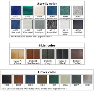 Jacuzzi Color Chart - poolandspa.ph
