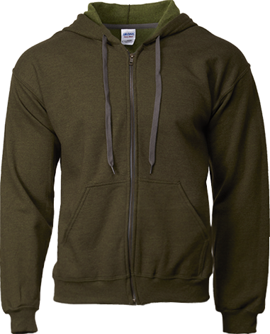 18700 Adult Vintage Full Zip Hooded Sweatshirt