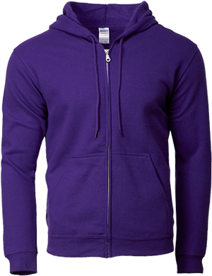 88600 Adult Full Zip Hooded Sweatshirt