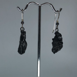 Meteorite earrings