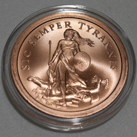 1 Oz - Copper Round (Tyrant)