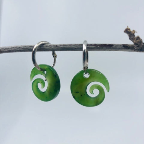 Jade Earrings - Jade swirl