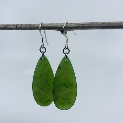 Jade Earrings - Long teardrop