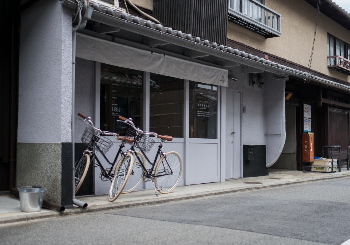 MAGASINN KYOTO storefront with bikes parked outside