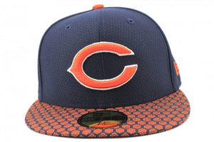 1adfe1edef4a5 New Era Chicago Bears 2017 Sideline Collection 59Fifty Fitted