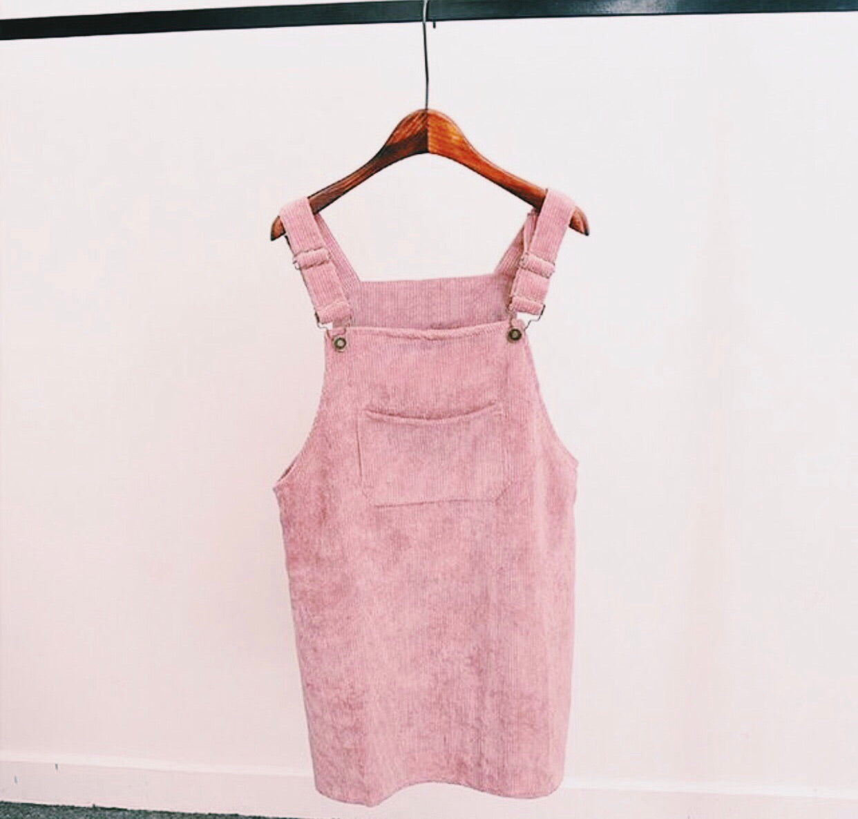 MY CORDUROY OVERALL DRESS