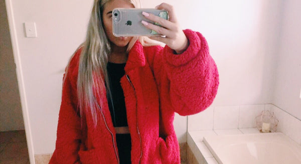 THE CLASSIC RED TEDDY BEAR JACKET
