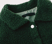 Load image into Gallery viewer, THE BUTTON UP TEDDY JACKET