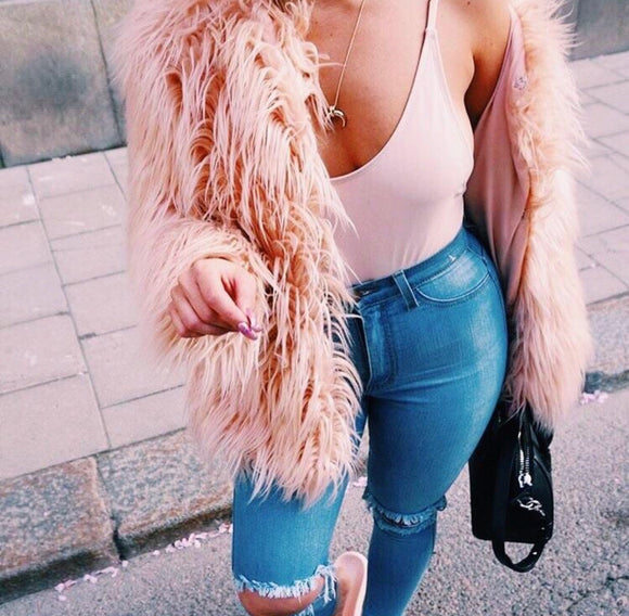 TOO BOUJEE FAUX FUR JACKET