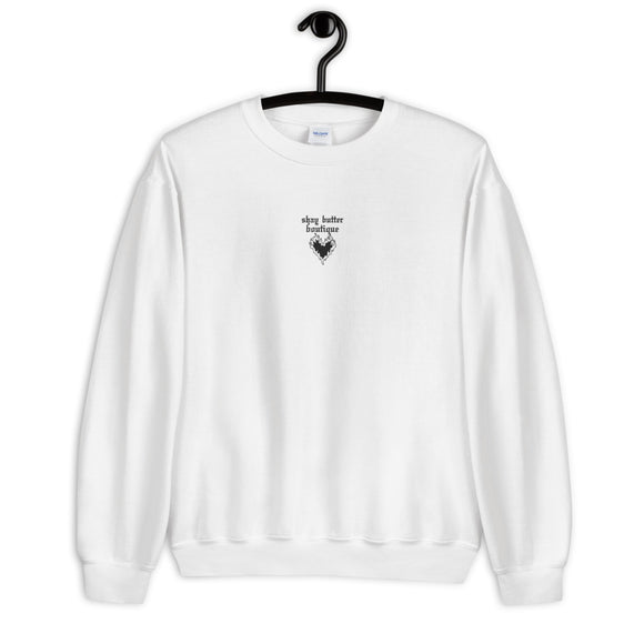 FLAMING HEART - embroidered sweatshirt