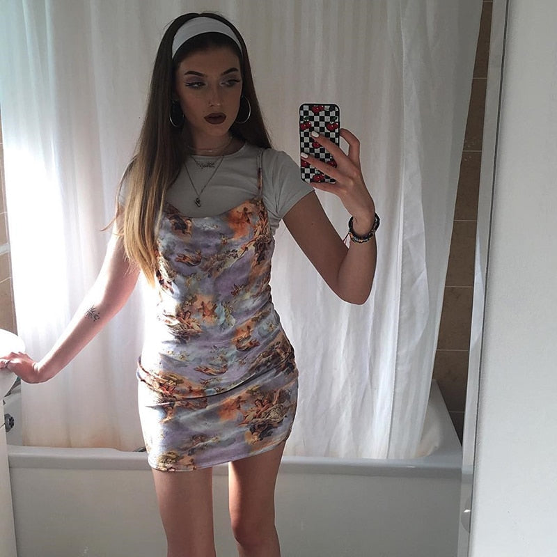 ANGEL PRINT DRESS