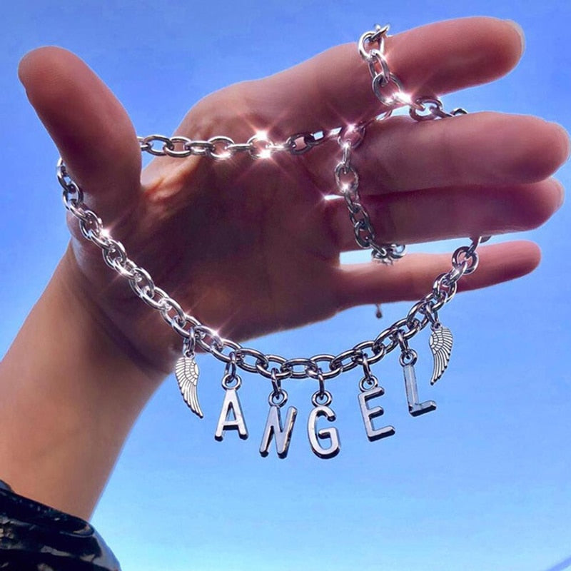 STAINLESS STEEL LETTERS NECKLACE