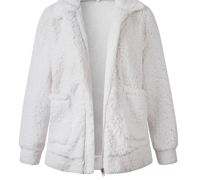 THE WHITE TEDDY JACKET